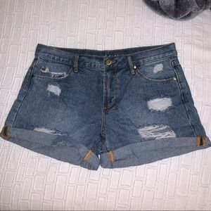 Articles of Society High Waisted Jean Shorts